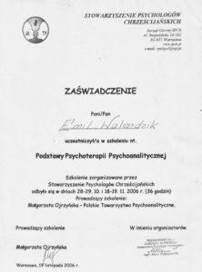 Podstawy Psychoterapii Psychoanalitycznej