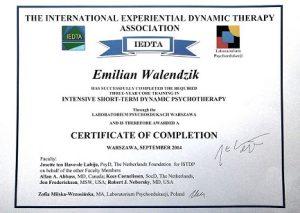 Certyfikat ISTDP