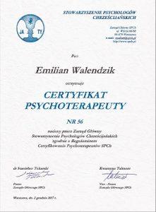certyfikat SPCh